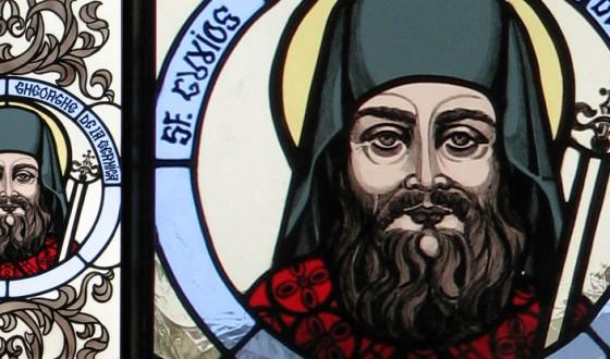 Vitraliu Sfantul Cuvios Staret Gheorghe de la Cernica
